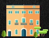 Bergamo Monuments Loop Animation