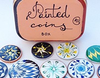 Painted coins box