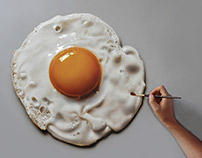 Fried Egg Still Life Painting
