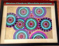 Divine Chakra mandala painting with Life Force Energy