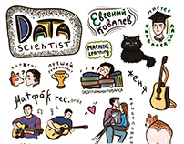 Sticker pack Data scientist