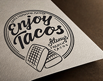 Création logo graphisme Enjoy Tacos, Loolye Labat