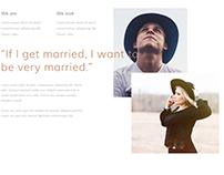 Wedding Event Website Design