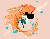 Procreate Illustrations - Asia