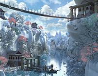 Fantasy Asian Environment 3d