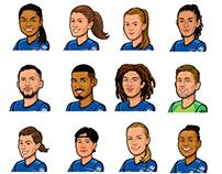 footballer portraits