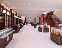 Interiores comerciales.