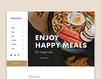Luxury Restaurant UI Design