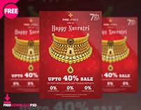 Navratri Sale Flyer Free PSD