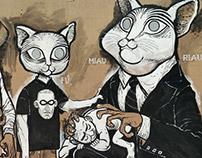 WALL ART: Cats family