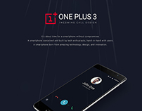 Free PSD - ONEPLUS 3 Incoming call design
