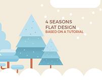 4 seasons flat design