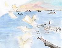 Ilustrações para o livro: Cecéu, Poeta do Céu