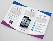 Free Mobile App Tri-Fold Brochure in PSD