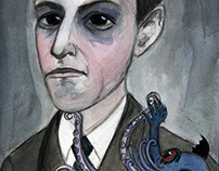 H.P. Lovecraft Literary Portrait