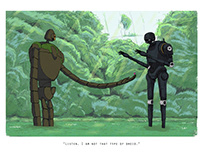 """""""Listen, I Am Not That Type of Droid."""" Ghibli Wars"""