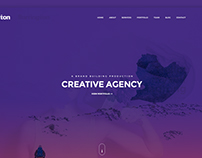 Barrington Creative Agency Landing Page.