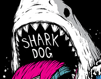 Shark dog surf hawaii - Extreme illust graphic design