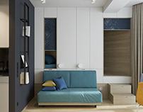 Small apartment, 29 m2 in Sochi, 2019.