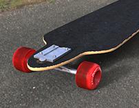 Longboard Model - KeyShot