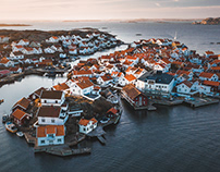 Above the Bohuslän Archipelago