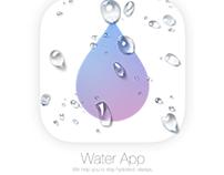 IOS UI Water App.