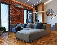 Квартира в стиле лофт 40 кв.