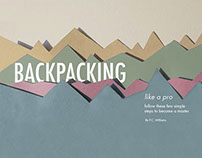 Backpacking Magazine Spread