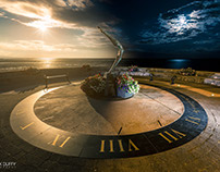 Sundial Day to Night Photograph