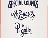 Hand lettering for Loumi's restaurant