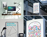 21 Awesome Free Poster & Flyer Mock-ups - Sept 2015