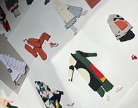 paper fashion illustration