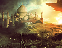 Photoshop Manipulation Taj Mehal
