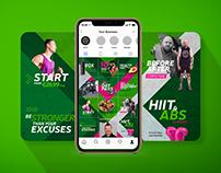 énergie Fitness Instagram Puzzle Grid