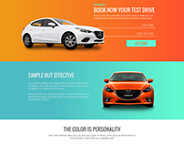 Test Drive Landing Page