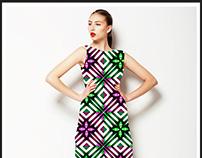 Modern Geometric Check Pattern Textile Pattern (COPIAR)