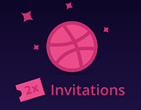 Two Dribbble Invitations