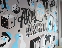Murals at Atlassian Amsterdam