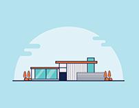 Building Architecture Illustrator Design
