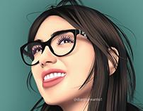 Dua Lipa | Drawing Portrait Vexel Photoshop #7
