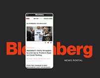 Bloomberg — News portal redesign concept