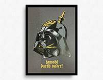 Jawohl Darth Vader! –Artprint