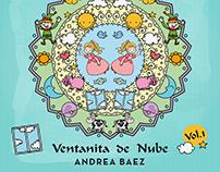 Diseño arte de tapa e interiores para CD de Andrea Baez