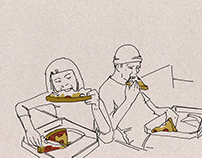 Sketch Story/ Graphic Story/ Pizza Illustration