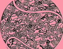 Mandala pen drawing