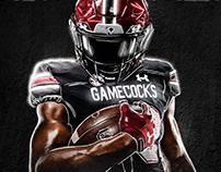 2020 Gamecock Football poster and Season ticket design