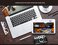 Landing page for game room and quest zone