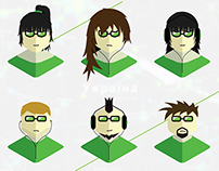 Character set for Ingress T-Shirt