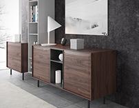 Walnut Piero cabinets