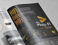 WIRED Magazine Ad for DTS Play-Fi